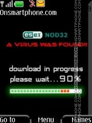 Downloading Virus theme screenshot