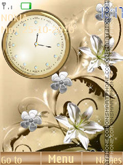 Tenderness Clock tema screenshot