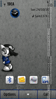 Mr Lonely S^3 theme screenshot
