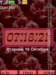 Скриншот темы Red pattern