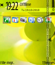 Green Grapes tema screenshot