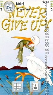 Never Give Up theme screenshot