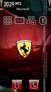 Ferrari 460 theme screenshot