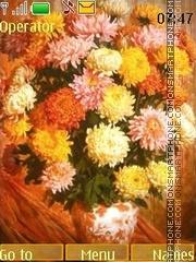 Chrysanthemums theme screenshot