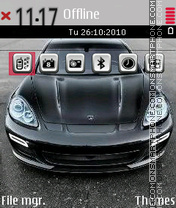 Porsche Panamera theme screenshot