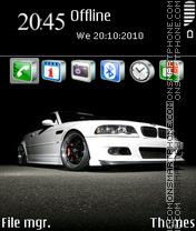 White Bmw m3 theme screenshot