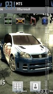 Nfs Mw VW Golf tema screenshot