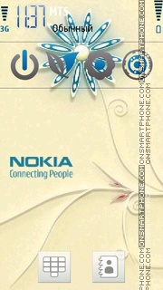 Nokia Blue Floral theme screenshot