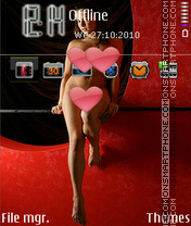 Beautiful girl tema screenshot
