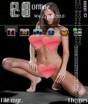 Hotgirl1 theme screenshot