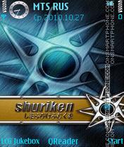 Shuriken es el tema de pantalla