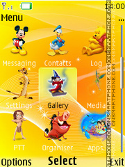 Disney Icons 01 theme screenshot