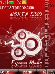 Nokia 5310 Express Music theme screenshot