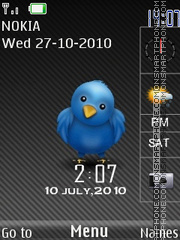 Twitter SWF theme screenshot