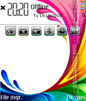 Splash color theme screenshot