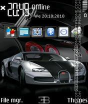 Bugatti Veyron Pur Sang theme screenshot