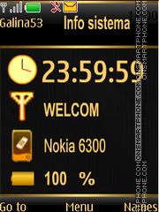 Info sistema theme screenshot