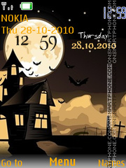 Haloween Time Clock tema screenshot