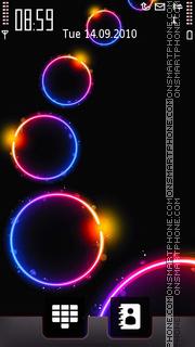 Rainbow Glowing theme screenshot