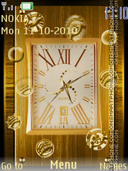 Golden Clock 05 tema screenshot