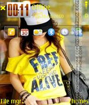 Emogirl 01 tema screenshot