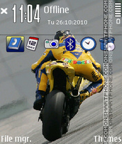 Valentino Rossi 03 theme screenshot