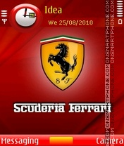 Scuderia Ferrari theme screenshot