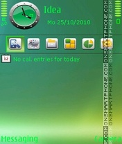 Shadow Green tema screenshot
