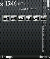 Dotty Grey tema screenshot