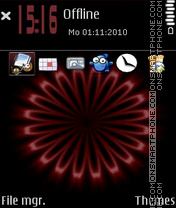 Red Magic theme screenshot