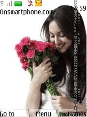 Sonakshi with roses theme screenshot