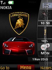 Lamborghini Sidebar theme screenshot