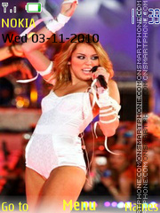 Miley Cyrus theme screenshot