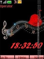 Love music tema screenshot