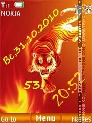 Fiery tiger FL1.1 tema screenshot