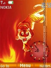 Fiery tiger FL2.0 es el tema de pantalla