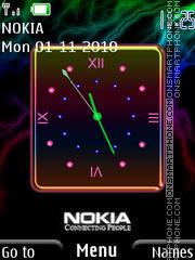 Скриншот темы Nokia Clock 04