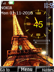 Paris Clock 02 tema screenshot