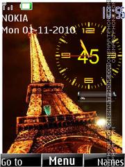 Paris Clock 02 theme screenshot