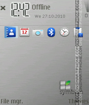 Metallica Symbian theme screenshot