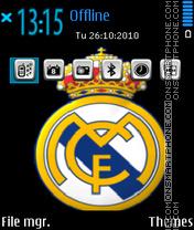 Fc real madrid theme screenshot