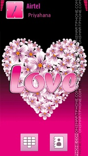 Love Pink 02 es el tema de pantalla