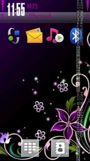 Purple Abstract 01 theme screenshot