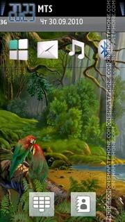 Parrots in jungle theme screenshot