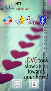 Love Steps es el tema de pantalla