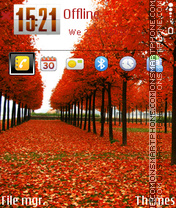 Red trees theme screenshot