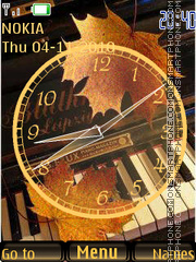 Autumn Clock theme screenshot