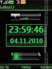 Clock $ indicators green theme screenshot