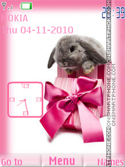 Rabbit Clock tema screenshot