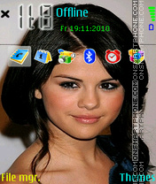 Selena Gomez 01 theme screenshot